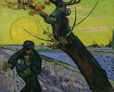 Vincent van Gogh - The sower Painitng Canvas Print wall home Decor