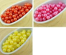 100pcs Pearl Shine Round Druk Pressed Czech Glass Beads Small Spacer 4mm