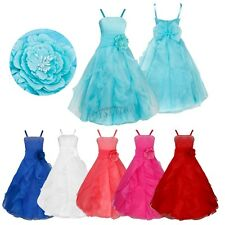Flower Girls Bridesmaid Dress Wedding Birthday Party Prom Gown Dresses Age 2-14