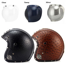 M L XL Best 3/4 Half Harley Helmet +Bubble Visor Motorcycle Retro DOT Approved