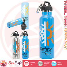 600ml Thermal Drink Bottle Sliver or Blue BPA FREE Stainless Steel Hot or Cold