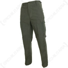 Olive Green BDU RIP STOP TROUSERS - All Sizes Cotton Combat Army Military Pants