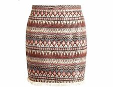 Womens Bottom Boho Chic Tassels Ethnic High Waist Mini Short Skirt