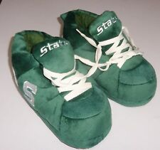 MICHIGAN STATE SLIPPERS PLUSH BOOT TYPE BY COMFY FEET GREEN WITH LACES NEW