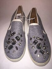 Womens Mossimo Embellished Canvas Shoes Heather Gray Various Size's NEW