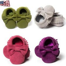 Infant Toddler Baby Kids Girl Soft Sole Crib Shoes Sneaker Newborn to 18 Months
