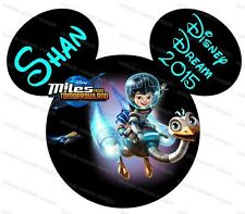 Disney Miles personalized iron on transfer (choice of 1)