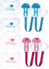 MAM Style (I Love) 0M+ Soothers/Dummies *PLUS* MAM Dummy/Soother Clips FAB DEAL!