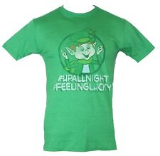 Lucky Charms Mens T-Shirt - #UP ALL NIGHT, #FEELING LUCKY Image