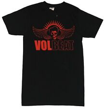 Volbeat Mens T-Shirt - Rockabilly Winged Skull Logo Image