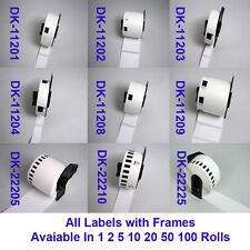 Compatible Brother Roll Labels with frame for Brother Label Printers