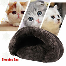 Soft Comfortable Warm Cat Sleeping Bags Pet Beds Half Cover Winter Nest BE