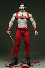 Phicen Steel Skeleton Male Executor Clothes With Whip 1/6 Set For Body Red