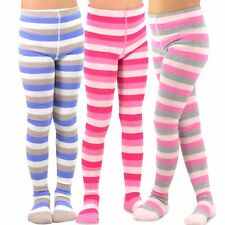 TeeHee Kids Girls Fashion  Tights 3 Pair Pack (Stripes)