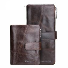Men Wallets Vintage  Card Holder Purse Bag Coin Pockets Long Clutch