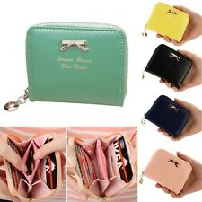 Women Purse Clutch Short Small Bag Pu Leather Female Purses For Coins Carteras