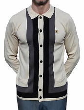 GABICCI VINTAGE STONE BUTTON THROUGH CARDIGAN MOD CLOTHING NORTHERN SOUL MODS
