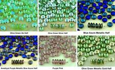 60pcs Crystal Disc Flat Round Disk Spacer Washer Solo One Hole Czech Glass Beads