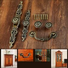 Bronze Antique Cupboard Knobs Vintage Cabinet Wardrobe Drawer Door Pulls Handles