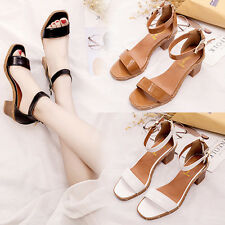 Fashion Women Summer High Heels Sandals Ankle Strap Zipper Buckle Shoes Sandals
