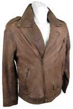 Camel active Men's  Real Leather Jacket Lamb Nappa brown new 6383