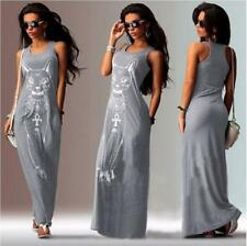 Women printing kitten Evening Formal Party Cocktail Dress Bridesmaid Prom Gown##