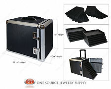 Aluminum Carrying Case Jewelry Salesman Travel Case & Jewelry Trays & Liners