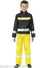Boys Fireman Firefighter Uniform Dress Up Fancy dress Costume Outfit 4-12 years