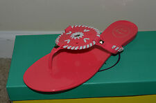 NEW Jack Rogers Thong Sandals Shoes Georgica Jelly Pink White Slip-on