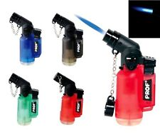 Pipe Lighter PROF Angled Turbo Jet Flame Windproof Blue Flame Refillable Lighter