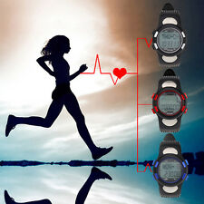 Sport 3D Fitness Pulse Pedometer Heart Rate Monitor Calories Counter & Backlight