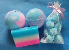 Handmade Soap & Large  Bath Bomb Sets - Mini Bath Bombs - Baby Powder Scented