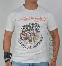Authentic Men's Ed Hardy Bulldog SS T-shirt New with Tag Size S,M,L,XL,XXL