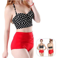 Pin Up Polka Dot Sexy Bikini Bra + Panty Hot New 1 Set Women