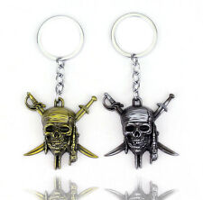 Pirates of the Caribbean Jack Sparrow Movie KeyChain Keyring Necklace Pendant
