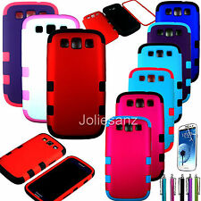 Hybrid Hard Impact Case Shockproof Cover Holster For Samsung Galaxy S3 III I9300
