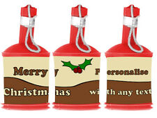 Personalised DIY CHRISTMAS PUDDING Party Popper WRAPPERS ONLY - Table Decoration