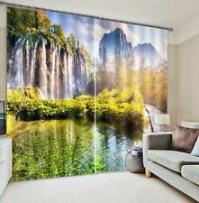 3D Waterfall 16 Blockout Photo Curtain Printing Curtains Drapes Fabric Window US