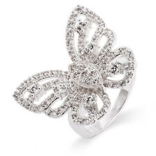 Sterling Silver CZ Butterfly Ring