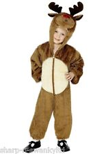 Girls Boys Kids Rudolph Reindeer Hooded Christmas Fancy Dress Up Costume Outfit