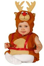 Baby Girls Boys Reindeer Chirstmas Fancy Dress Costume Outfit 6-12/12-24 months