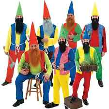 Mens Snow White and the 7 Seven Dwarves Gnome Dwarf Fancy Dress Costume Outfit
