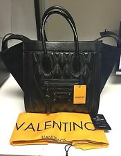 Valentino by Mario Valentino Cynthia Leather & Suede Tote -Silver (Metallic Gray