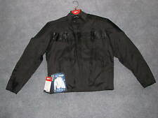 NEW MENS FULMER STEALTH MOTORCYCLE TEXTILE RIDING ARMOR JACKET BLACK SMALL