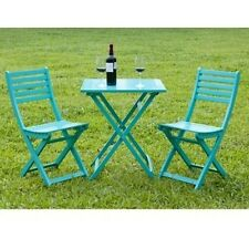 3 PC Bistro Outdoor Patio Furniture Garden Dining Set Table 2 Chairs Patio Wood