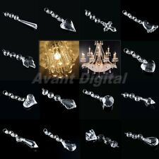 1/5/10 Strands Acrylic Crystal Clear Beads Hanging Chandelier Wedding Decor A57D