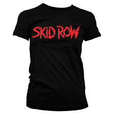 Officially Licensed Skid Row-  Skid Row Logo Women T-Shirt S-XXL Sizes
