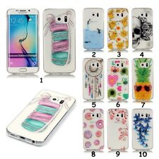 Slim Transparent HD Pattern For iPhone LG Huawei TPU Soft Clear Back Case Cover