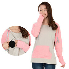 Cotton Long Sleeve Maternity Clothes Breastfeeding T-Shirt Nursing Top
