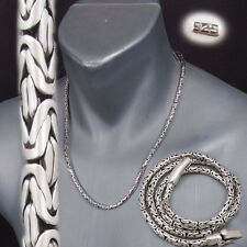BALI BYZANTINE 925 STERLING SILVER MENS NECKLACE KING CHAIN 18 20 22 24 26 28 30